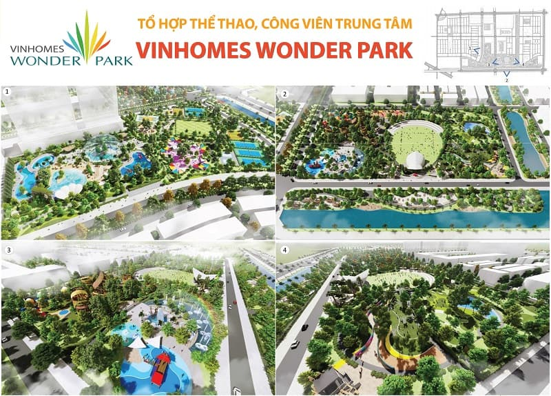 vị trí Vinhomes Wonder park Đan Phượng